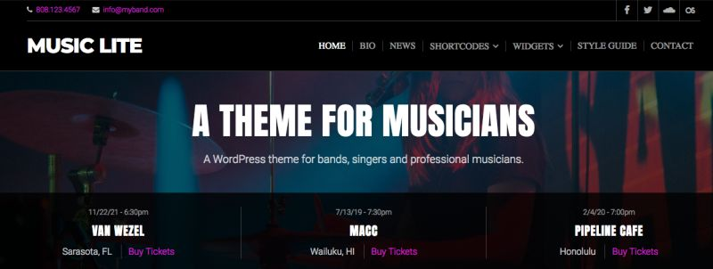 Tema wordpress musiclite