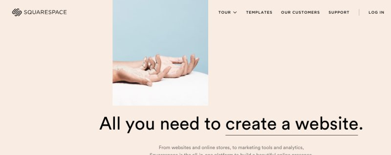 Squarespace como alternativas de wix