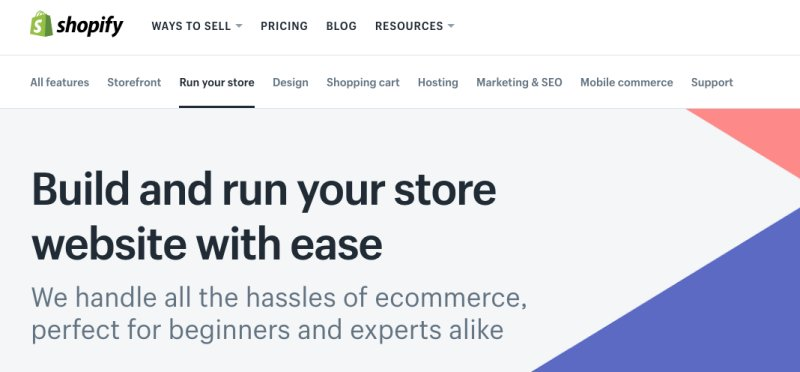 Shopify como alternativas de Wix