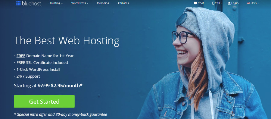 Banner di Bluehost