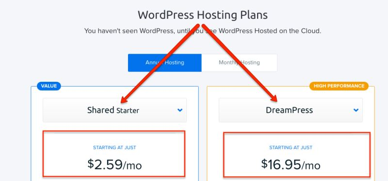 dreamhost wordpress планове