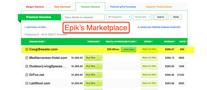 Epik's Marketplace