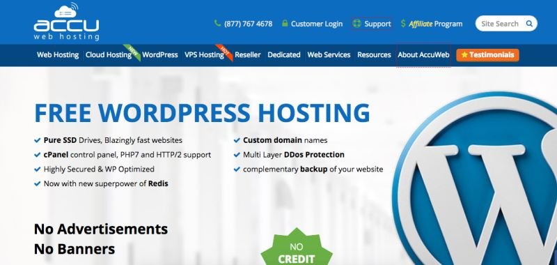accuwebhosting sem wordpress