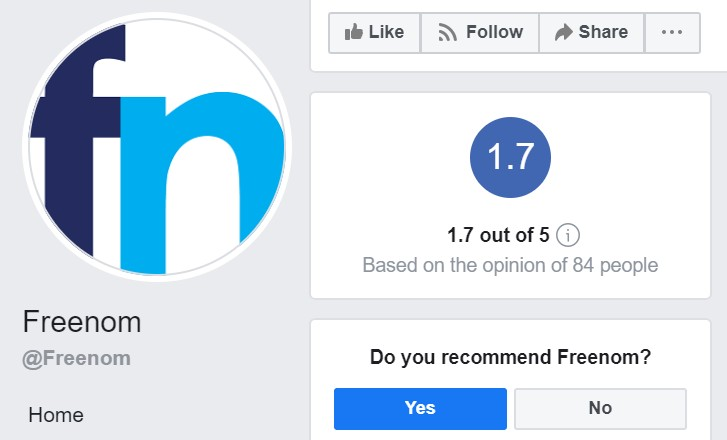freenom ratings facebook