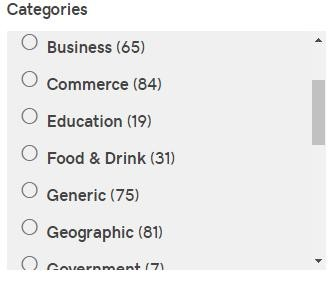 categories de godaddy