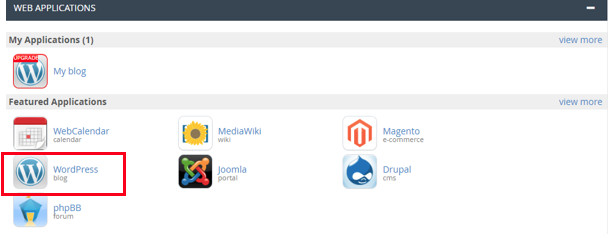 cPanel WordPress