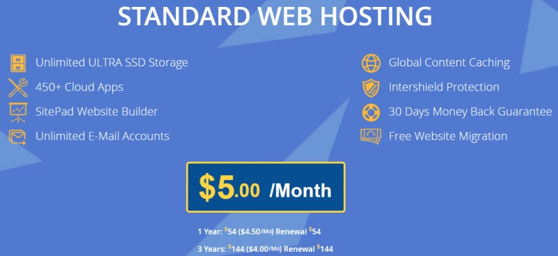 hosting web standard interserver
