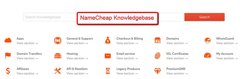 NameCheap_Knowledgebase