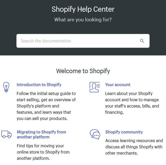 Centrum pomocy Shopify