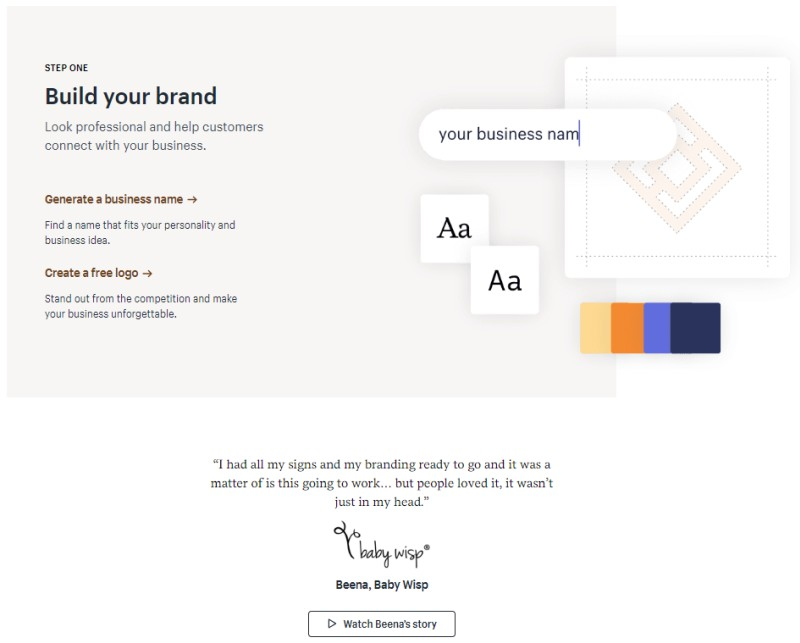 shopify build brand