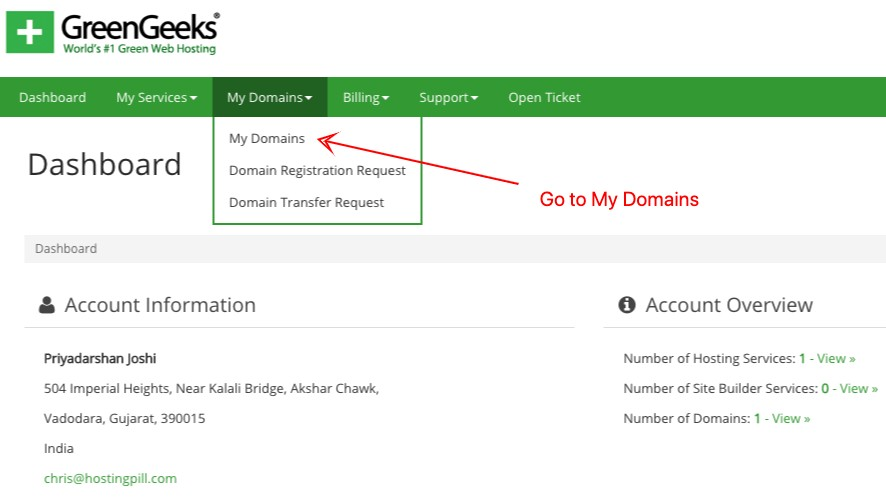 Greengeeks GoToMyDomains